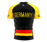 Germany  Full Zipper Bike Short Sleeve Cycling Jersey