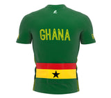 Ghana  Full Zipper Bike Short Sleeve Cycling Jersey