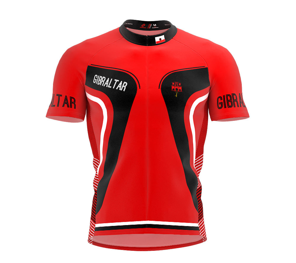 Gibraltar  Full Zipper Bike Short Sleeve Cycling Jersey