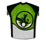 Go Green. Play Golf Short Sleeve Cycling Jersey for Men and Women