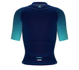 Scudopro Pro-Elite Short Sleeve Cycling Pro Fit Jersey Gradient Intense Cyan for Women