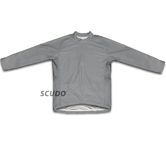 Gray  Winter Thermal Cycling Jersey