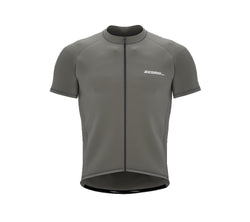 Chroma Contrast |  Short Sleeve Cycling Jersey Grey - Black zip - Blue seam | Men and Women