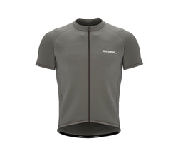 Chroma Contrast |  Short Sleeve Cycling Jersey Grey - Black zip - Red seam | Men and Women