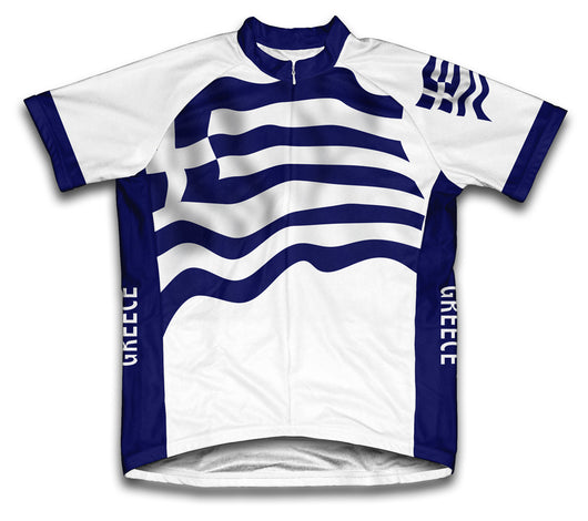 Greece Flag Cycling Jersey for Men and Women