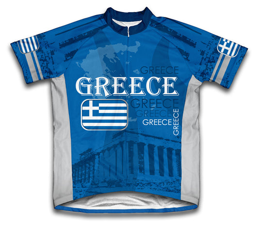 Greece Short Sleeve Cycling Jersey for Men and Women