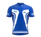 Greece  Full Zipper Bike Short Sleeve Cycling Jersey