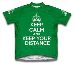 Keep Calm and Keep Your Distance Green Cycling Jersey