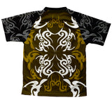 Green Black Tattoo Sheme Technical T-Shirt for Men and Women