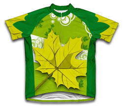 Green Fall Short Sleeve Cycling Jersey for Men and Women