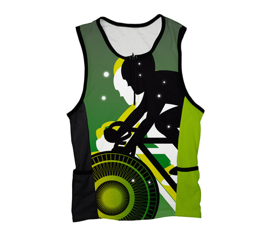 Green Lanter Biker Triathlon Top