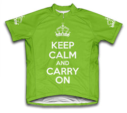 Keep Calm and Carry On Green Neon Cycling Jersey