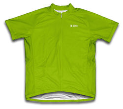 Green Neon Short Sleeve Cycling Jersey for Men and Women