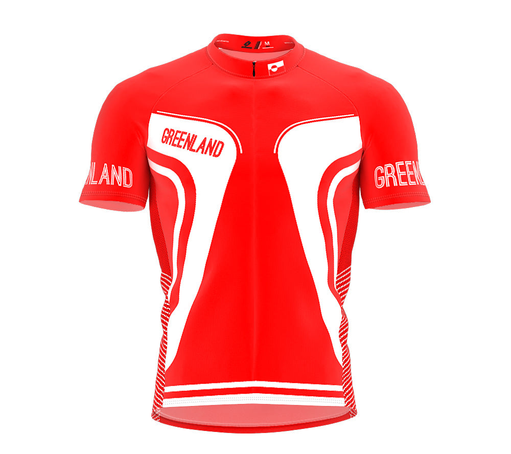 Greenland  Full Zipper Bike Short Sleeve Cycling Jersey