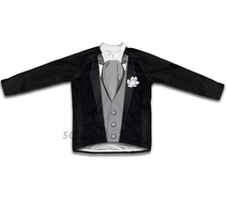 Groom Tuxedo Gray Winter Thermal Cycling Jersey