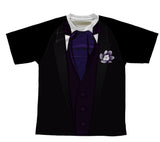 Groom Tuxedo Purple Technical T-Shirt for Men and Women