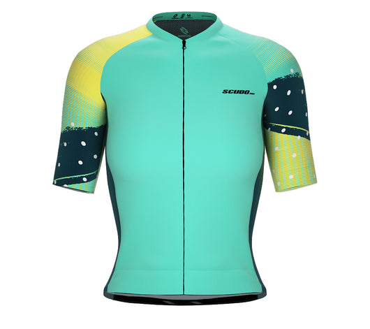 Scudopro Pro-Elite Short Sleeve Cycling Pro Fit Jersey Grunge Point for Women