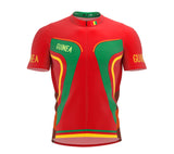Guinea  Full Zipper Bike Short Sleeve Cycling Jersey