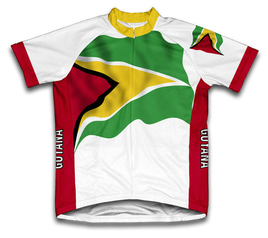 Guyana Flag Cycling Jersey for Men and Women
