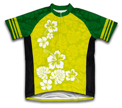 Hawaiian Greens Short Sleeve Cycling Jersey for Men and Women