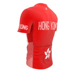 Hong Kong  Full Zipper Bike Short Sleeve Cycling Jersey