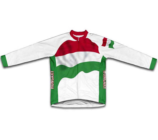 Hungary Flag Winter Thermal Cycling Jersey