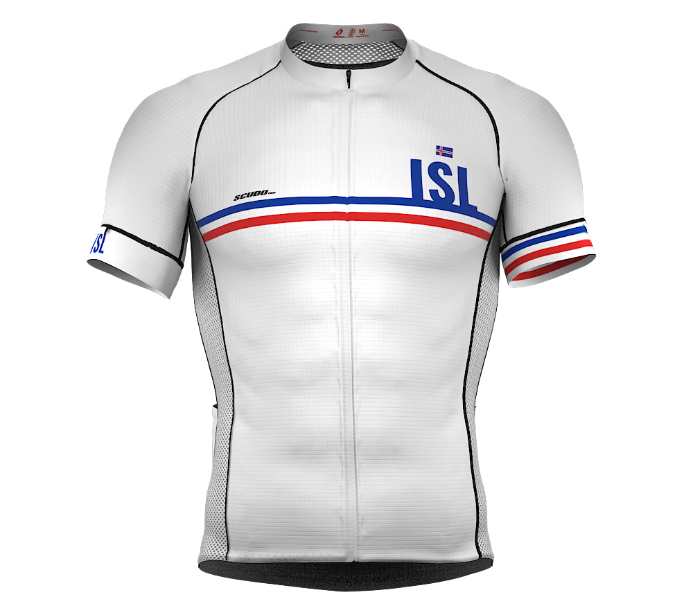 b9a56430ee4 Iceland White CODE Short Sleeve Cycling PRO Jersey for Men and Women ...