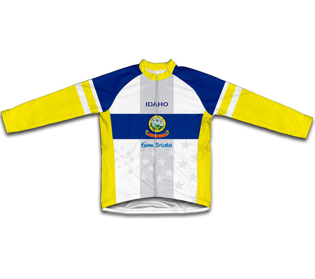 Idaho Flag Winter Thermal Cycling Jersey