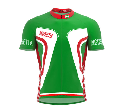 Ingushetia  Full Zipper Bike Short Sleeve Cycling Jersey
