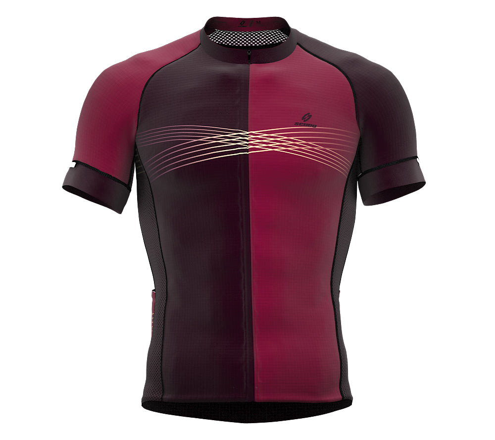 Inspired Burgandy Short Sleeve Cycling PRO Jersey