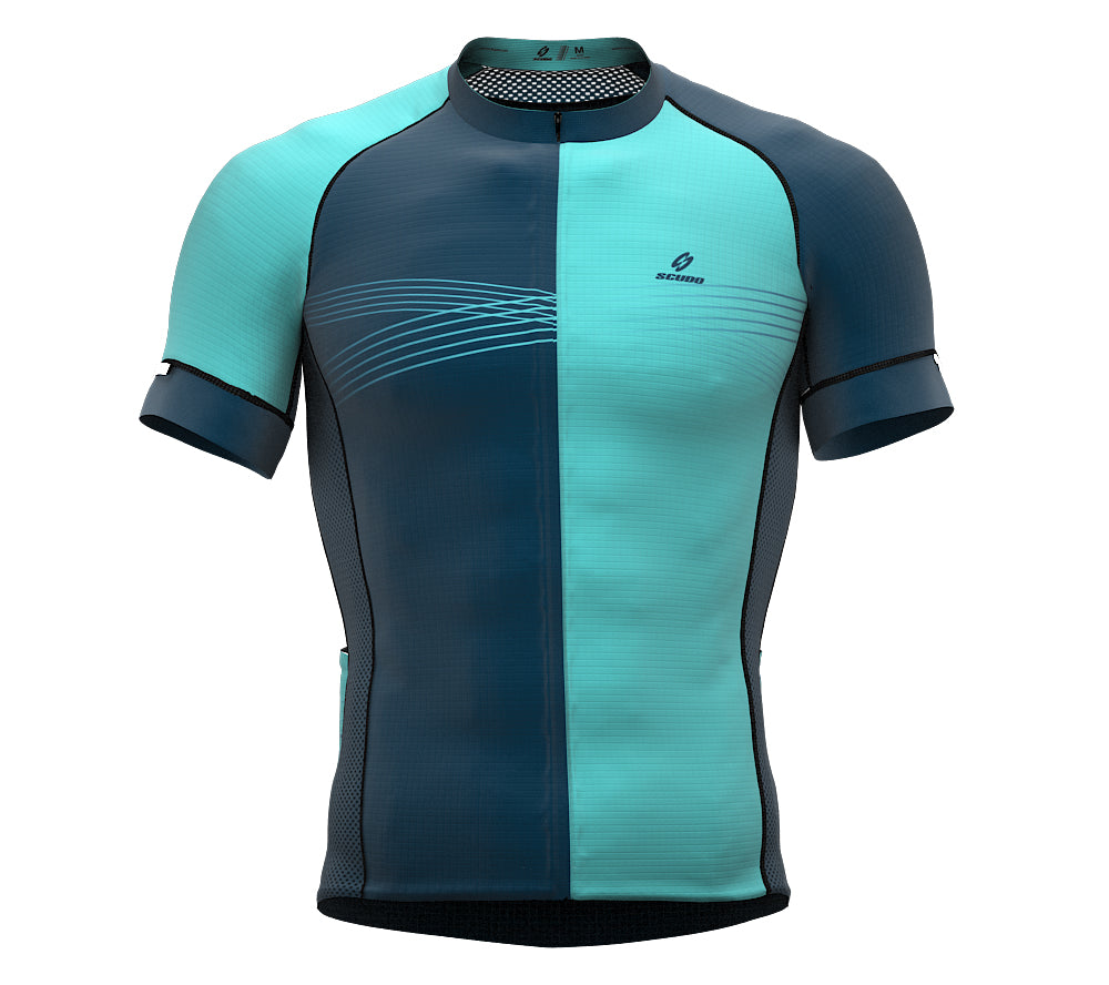 Inspired Ocean Blue Short Sleeve Cycling PRO Jersey