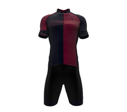 Inspired Red Wine Scudopro Cycling Speedsuit for ManInspired Red Wine Scudopro Cycling Speedsuit for Man
