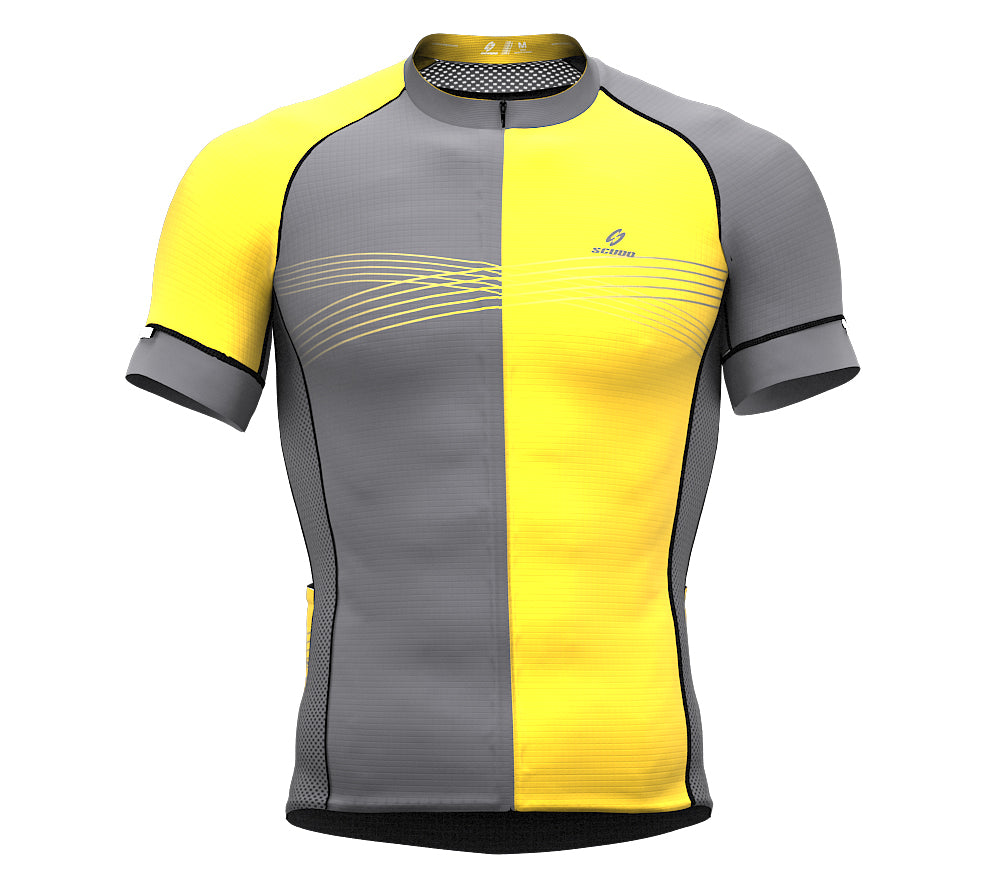 Inspired Yellow Short Sleeve Cycling PRO Jersey
