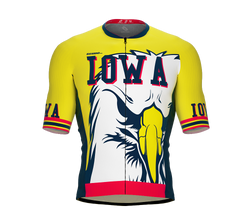 ScudoPro Pro-Elite Short Sleeve Cycling Jersey Iowa USA State Icon landmark symbol identity  | Men and Women