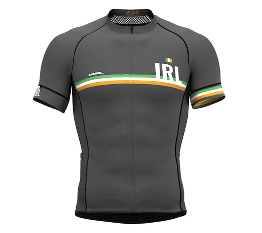 Ireland Gray CODE Short Sleeve Cycling PRO Jersey for Men and WomenIreland Gray CODE Short Sleeve Cycling PRO Jersey for Men and Women
