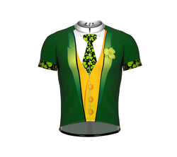 Iris Tuxedo St. Patrick's Day Short Sleeve Cycling Jersey for Men and Women