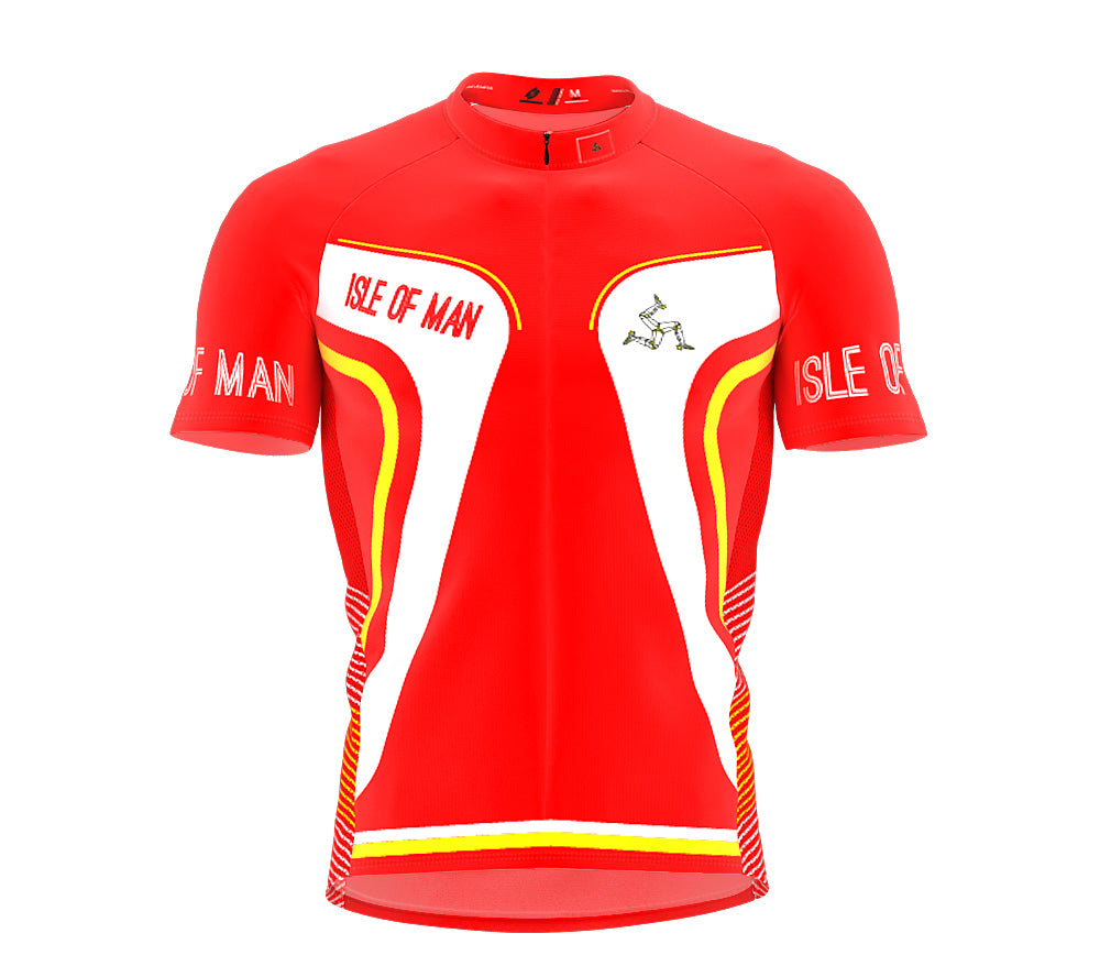 Isle Of Man  Full Zipper Bike Short Sleeve Cycling Jersey