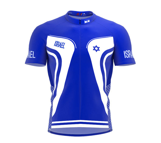 Israel  Full Zipper Bike Short Sleeve Cycling Jersey