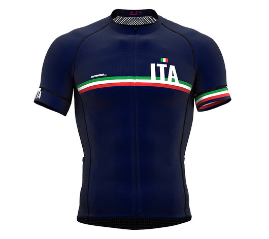 Italy Blue CODE Short Sleeve Cycling PRO Jersey for Men and WomenItaly Blue CODE Short Sleeve Cycling PRO Jersey for Men and Women