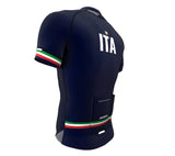 Italy Blue CODE Short Sleeve Cycling PRO Jersey for Men and Women
