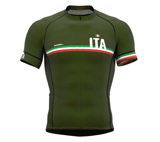 Italy Green CODE Short Sleeve Cycling PRO Jersey for Men and WomenItaly Green CODE Short Sleeve Cycling PRO Jersey for Men and Women