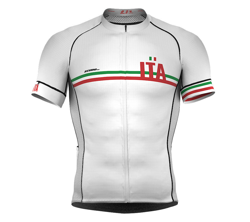 Italy White CODE Short Sleeve Cycling PRO Jersey for Men and WomenItaly White CODE Short Sleeve Cycling PRO Jersey for Men and Women
