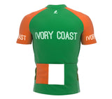Ivory Coast  Full Zipper Bike Short Sleeve Cycling Jersey
