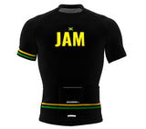 Jamaica Black CODE Short Sleeve Cycling PRO Jersey for Men and Women