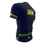 Jamaica Blue CODE Short Sleeve Cycling PRO Jersey for Men and Women