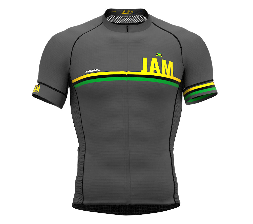 Jamaica Gray CODE Short Sleeve Cycling PRO Jersey for Men and WomenJamaica Gray CODE Short Sleeve Cycling PRO Jersey for Men and Women