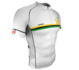 Jamaica White CODE Short Sleeve Cycling PRO Jersey for Men and Women