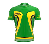 Jamaica  Full Zipper Bike Short Sleeve Cycling Jersey