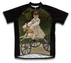 Jean Monet on his Hobby Horse Short Sleeve Cycling Jersey for Men and Women