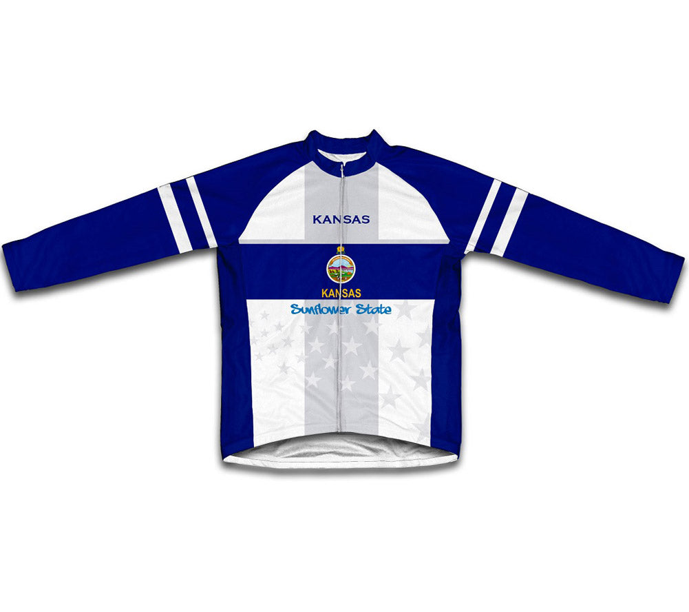 Kansas Flag Winter Thermal Cycling Jersey